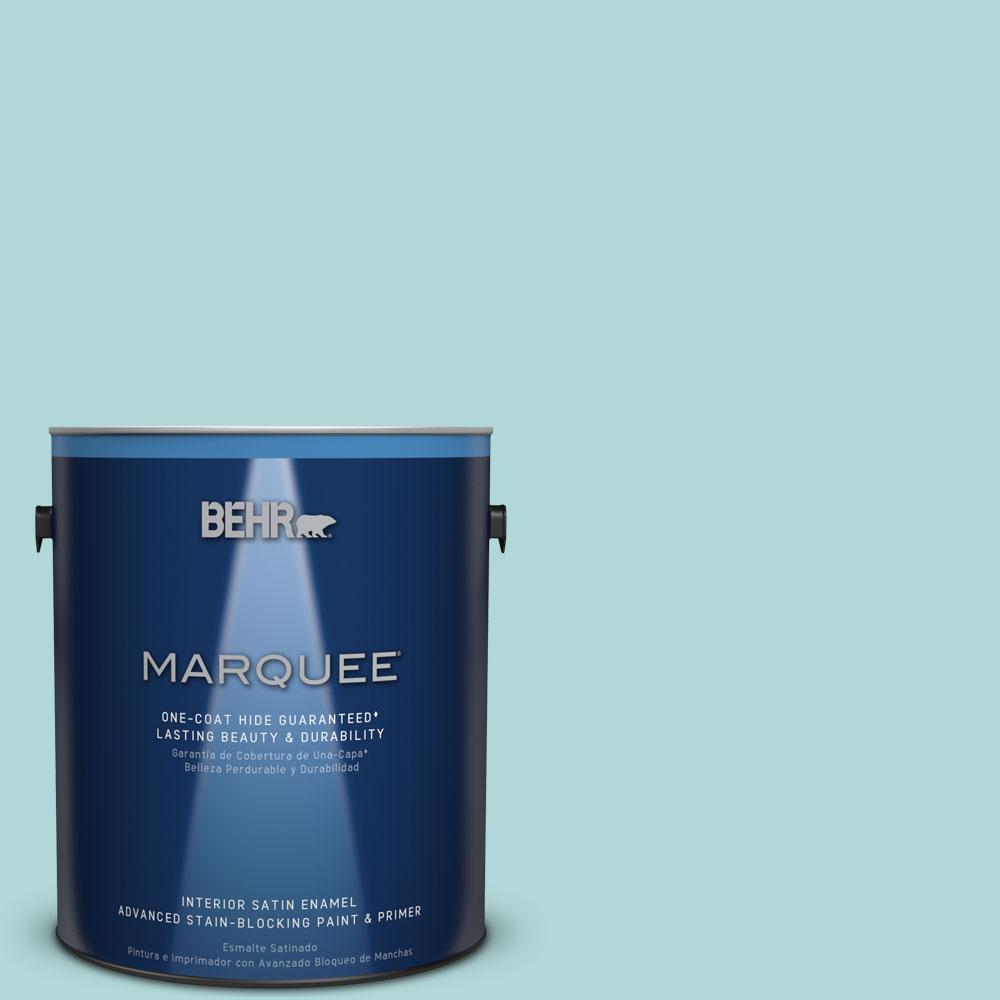 1 gal. #T12-19 Sugar Pool Satin Enamel Interior Paint