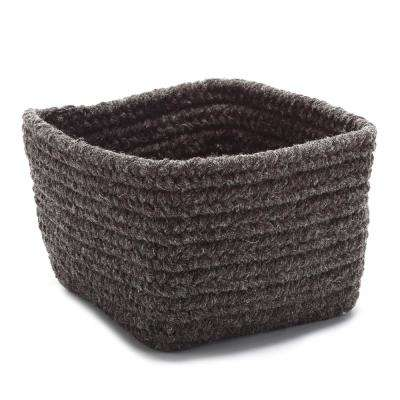 Natural 11 in. x 11 in. x 8 in. Wool Storage Basket in LightBeige