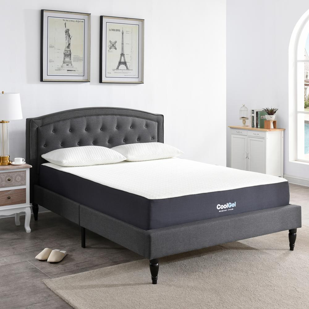 cool gel cool gel queen size 105 in gel memory foam mattress - Memory Foam Mattress