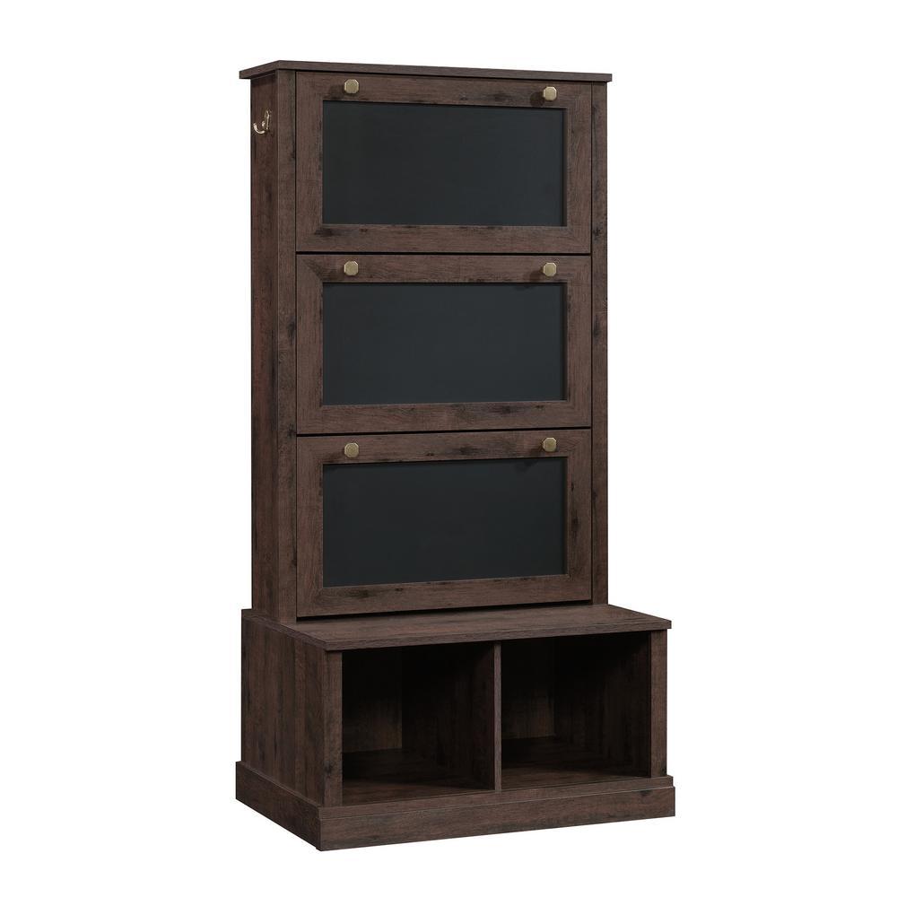 New Grange Coffee Oak Entryway Storage Cabinet