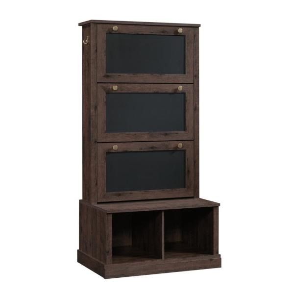 SAUDER New Grange Coffee Oak Entryway Storage Cabinet