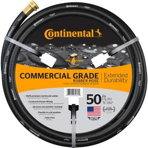 Premium 5/8 in. Dia x 50 ft. Commercial Grade Rubber Black Water Hose