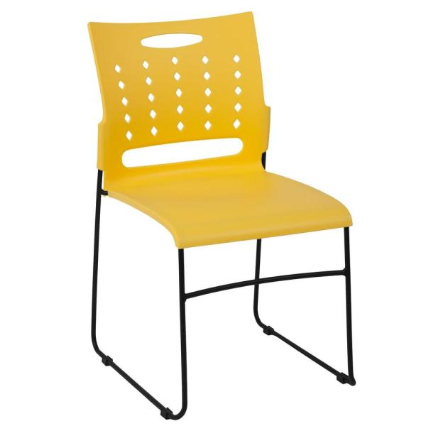 Superbe Flash Furniture Yellow Stack Chair