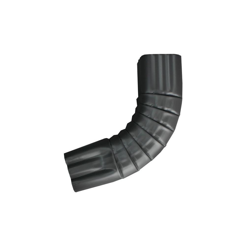 3 in. x 4 in. Tuxedo Gray Aluminum Downpipe - A Elbow