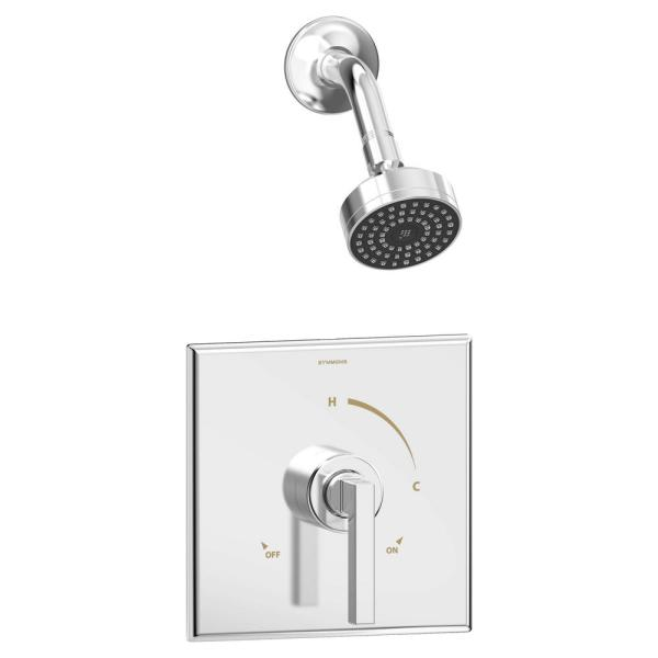 Duro Single Handle 1-Spray Shower Trim in Polished Chrome - 1.5 GPM (Valve not Included)