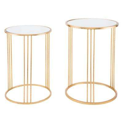 Magri Gold Nesting Round Tables (Set of 2)