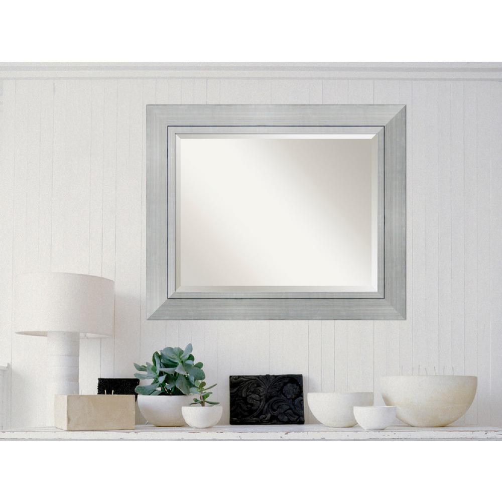 Romano Silver Wood 35 in. W x 29 in. H Contemporary