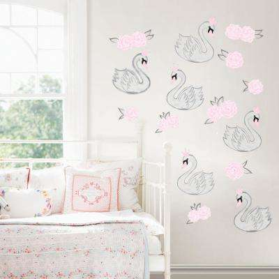 Pink Swan Song Wall Decal