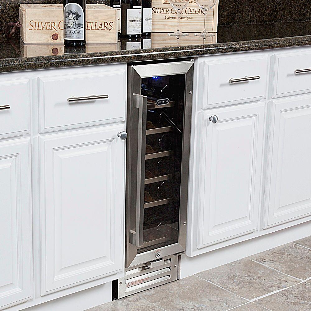 Whynter 18 Bottle Built In Wine Refrigerator In Stainless Steel Bwr 18sd The Home Depot
