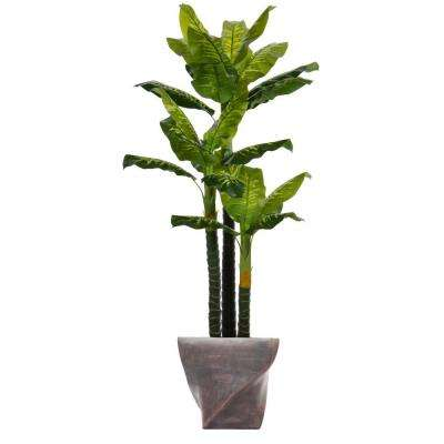 82 in. Tall Real Touch Evergreen in Planter
