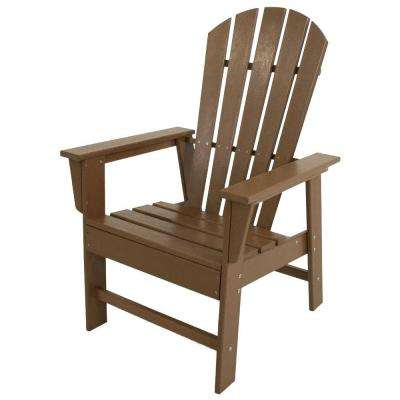 South Beach Teak All-Weather Plastic Outdoor Dining Chair