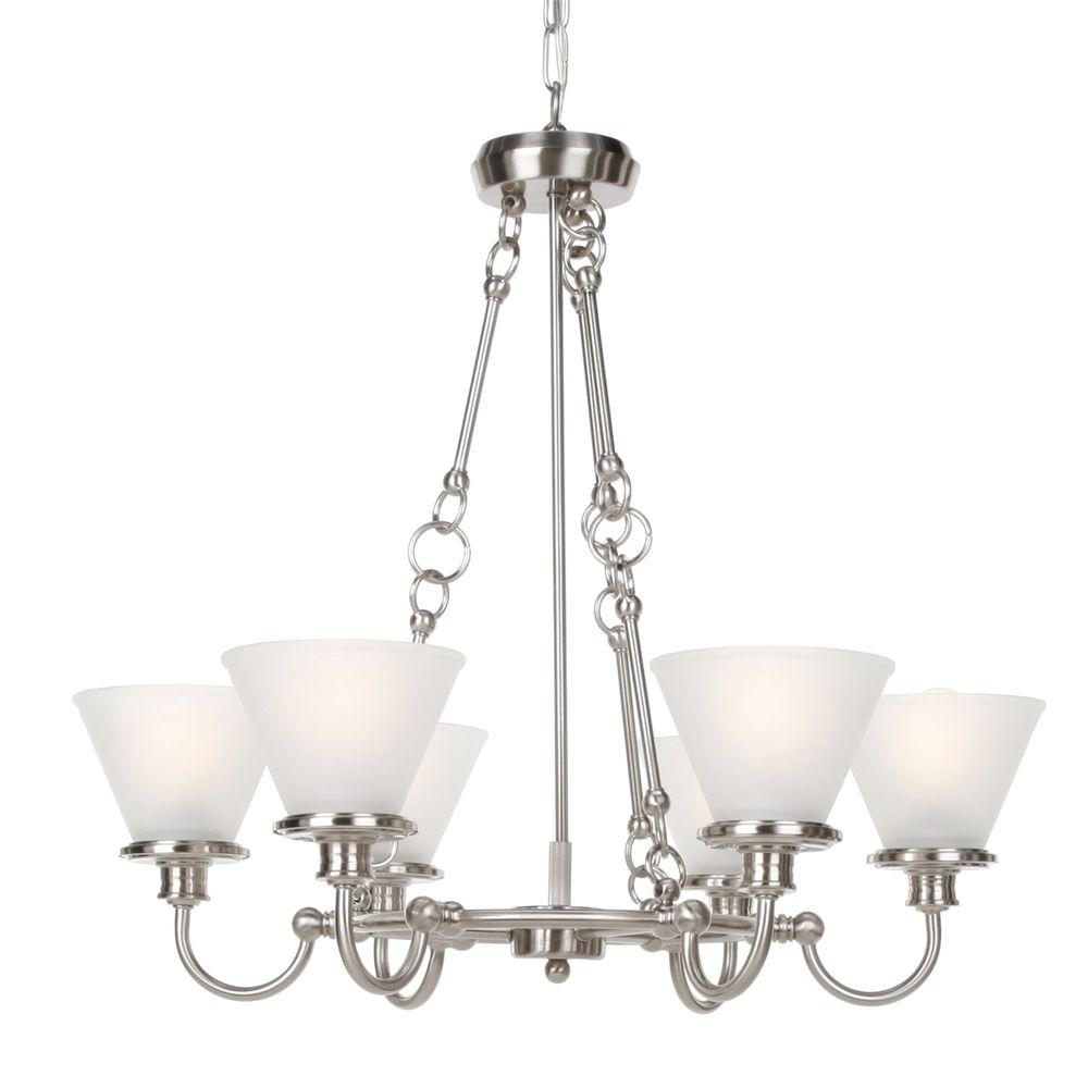 Hampton Bay 6-Light Brushed Nickel Chandelier