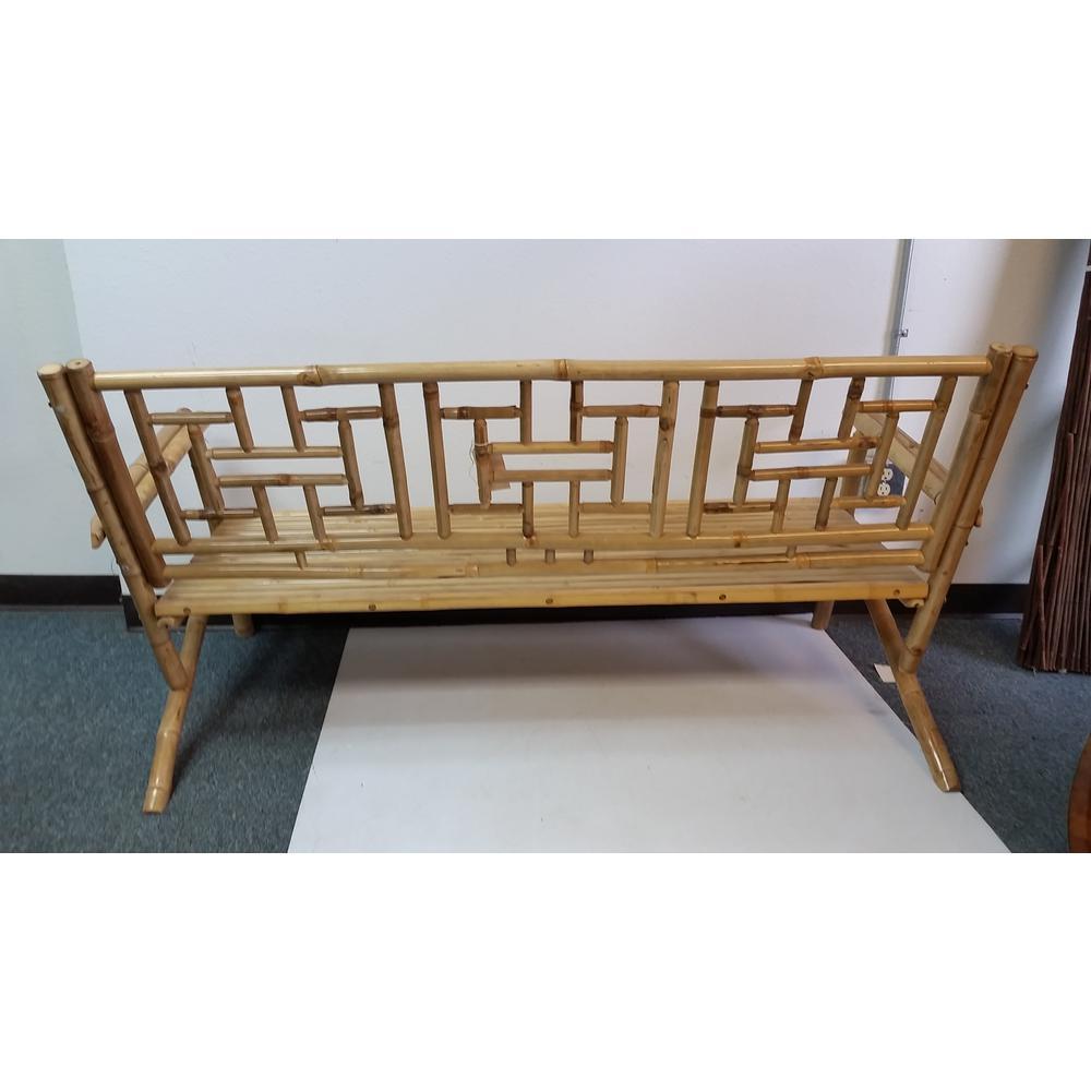 Terrific Mgp Natural Bamboo Standard Lattice Back Bench Customarchery Wood Chair Design Ideas Customarcherynet