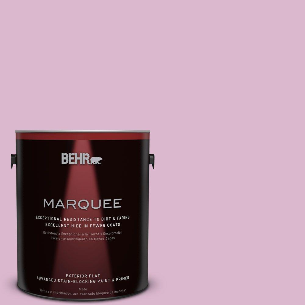 1-gal. #M120-3 Pink Wink Flat Exterior Paint