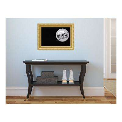 Versailles Gold Wood 22 in. x 16 in. Framed Black Cork Board
