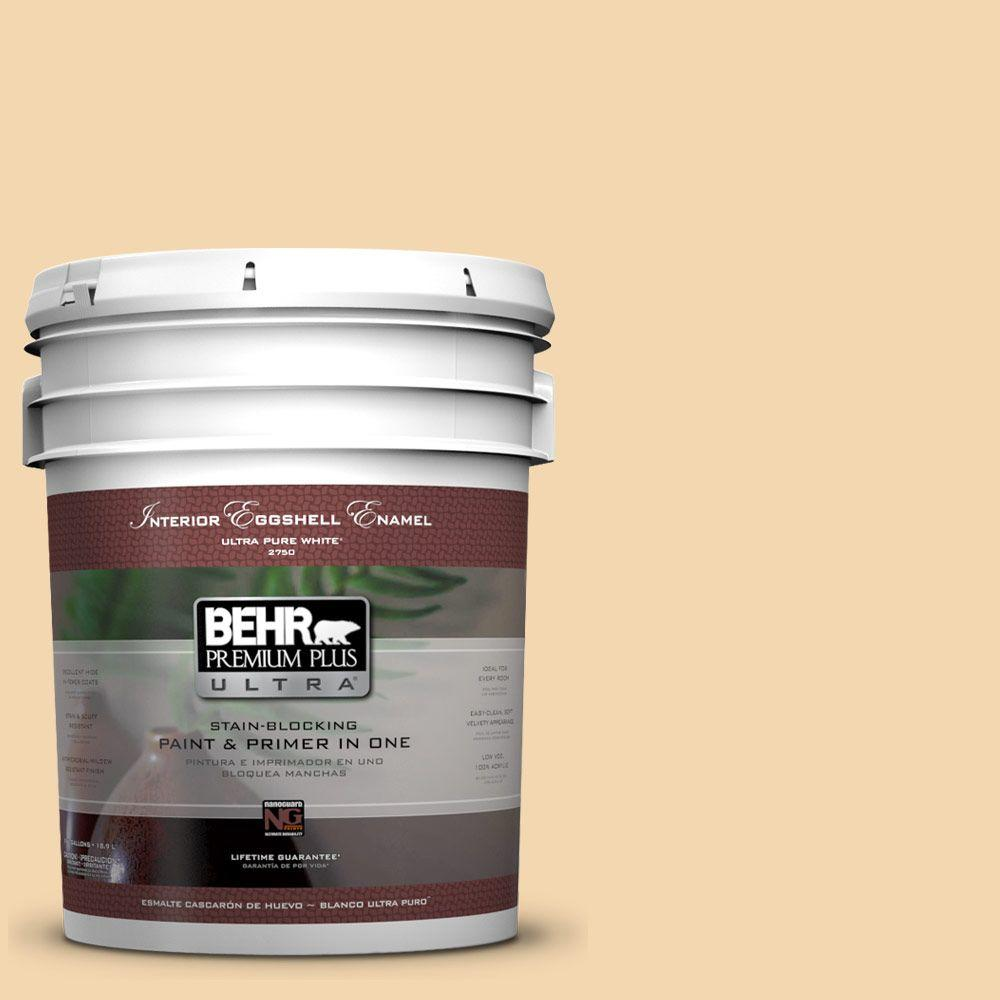 5-gal. #M270-3 Cream Custard Eggshell Enamel Interior Paint
