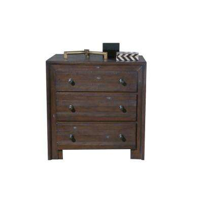 Corwin Distress Mahogany Nightstand