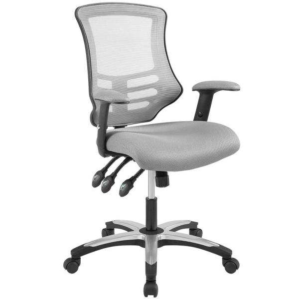 MODWAY Calibrate Gray Mesh Office Chair EEI-3042-GRY