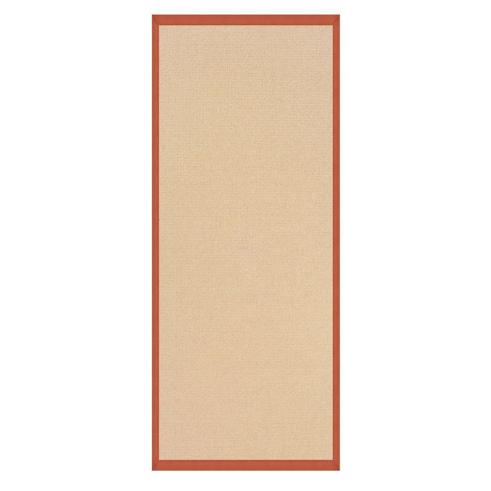 Linon Athena Natural and Burnt Orange 2 ft. 6 in. x 12 ft...