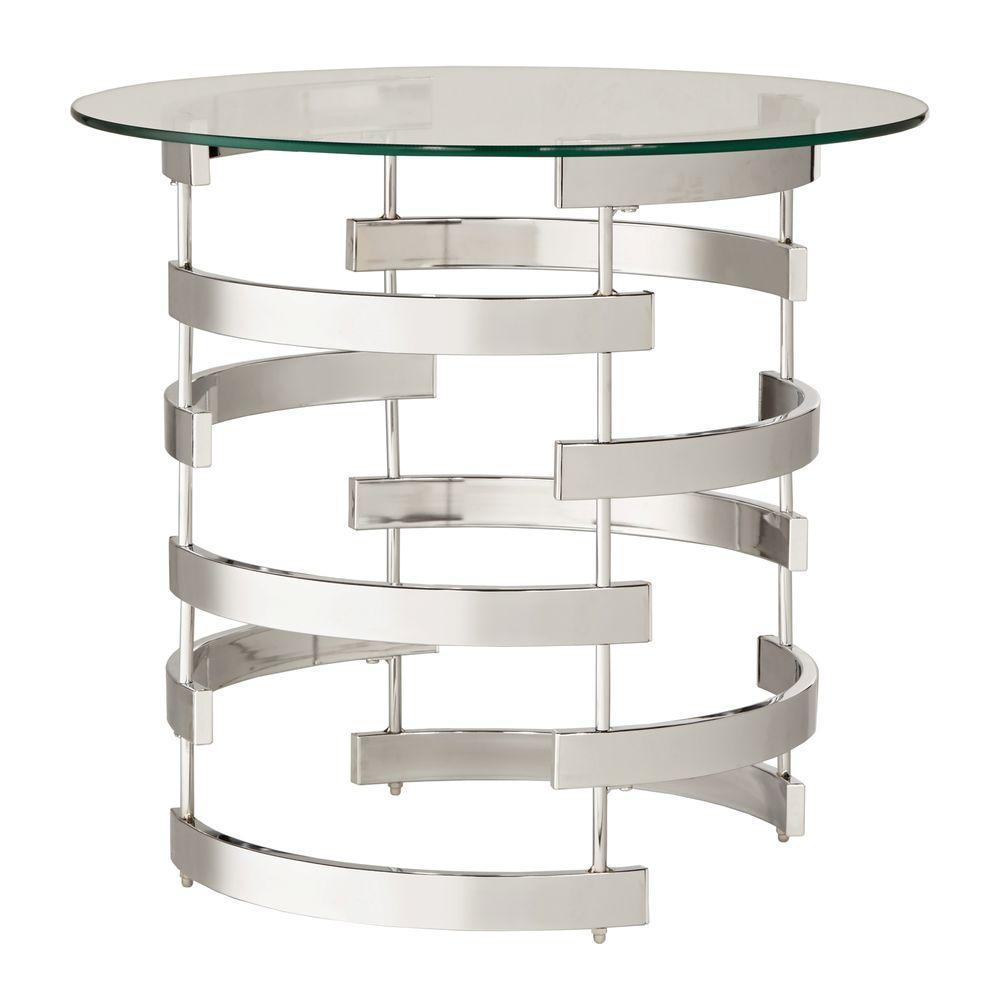 Calyer Chrome End Table