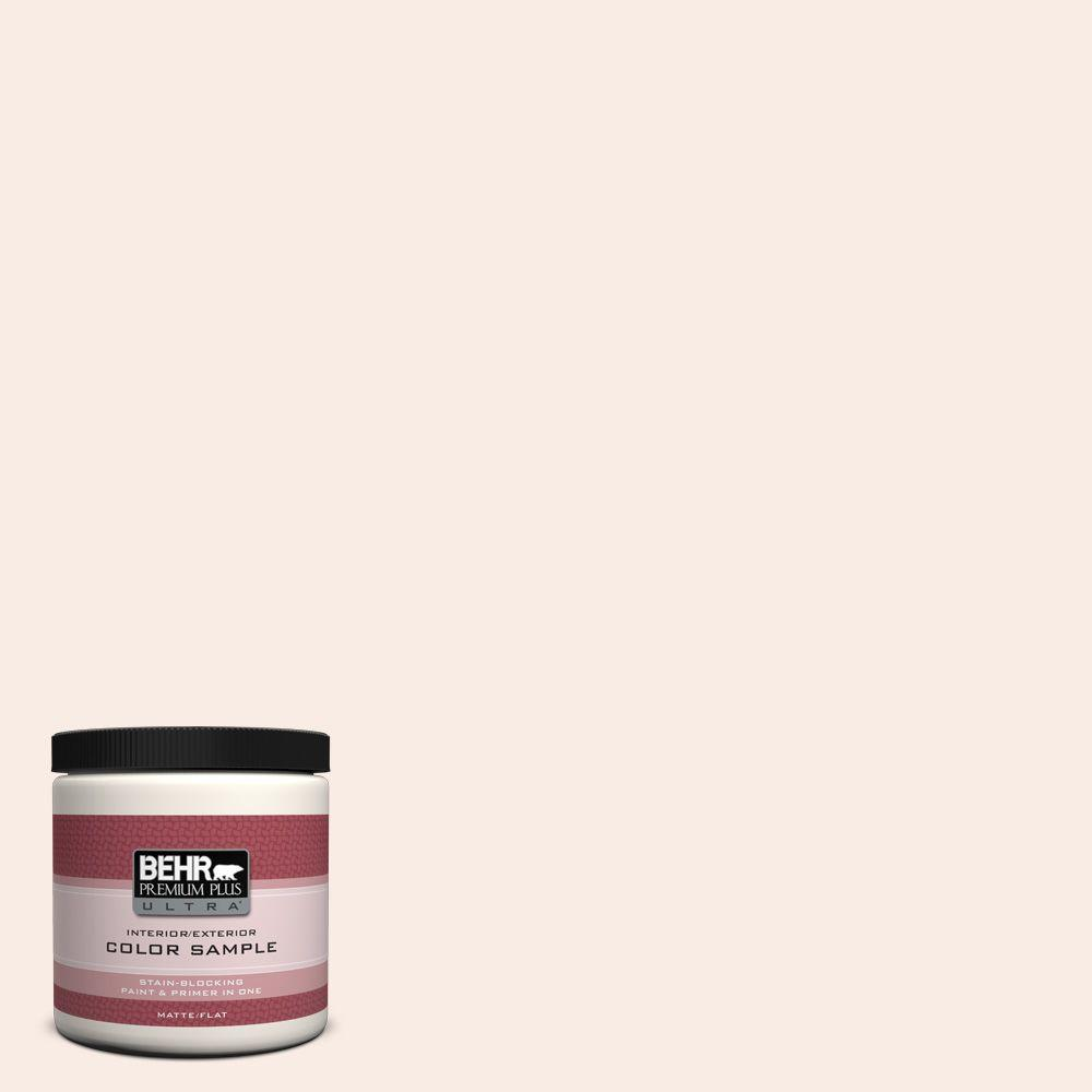 BEHR Premium Plus Ultra 8 oz. #W-D-110 Soft Muslin Matte Interior/Exterior Paint and Primer in One Sample