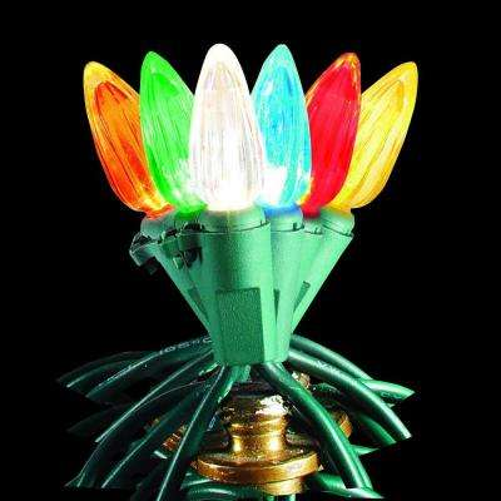 100-Light LED C3 Multi-Color to Warm White Color Changing Light Set