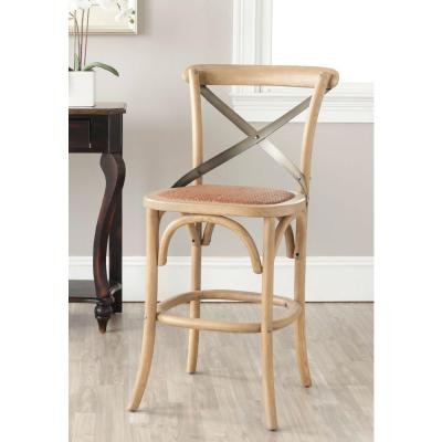 Eleanor 24.4 in. Weathered Oak Bar Stool