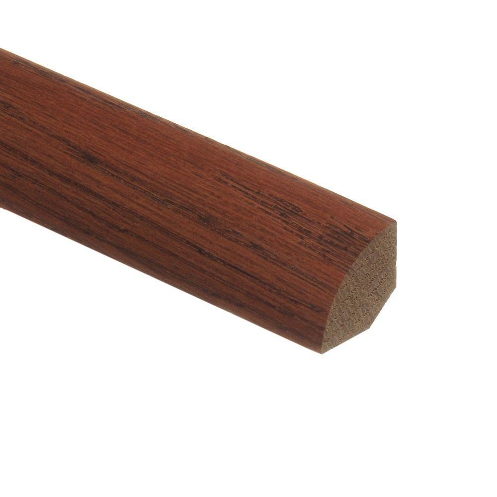 Zamma Oak Gunstock/Raymore/Nat Oak Parquet Cherry 3/4 in. Thick x 3/4 in. Wide x 94 in. Length Wood Quarter Round Molding