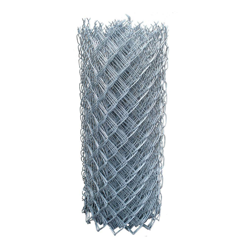 5 ft. x 50 ft. 12-1/2-Gauge Galvanized Cyclone Fence