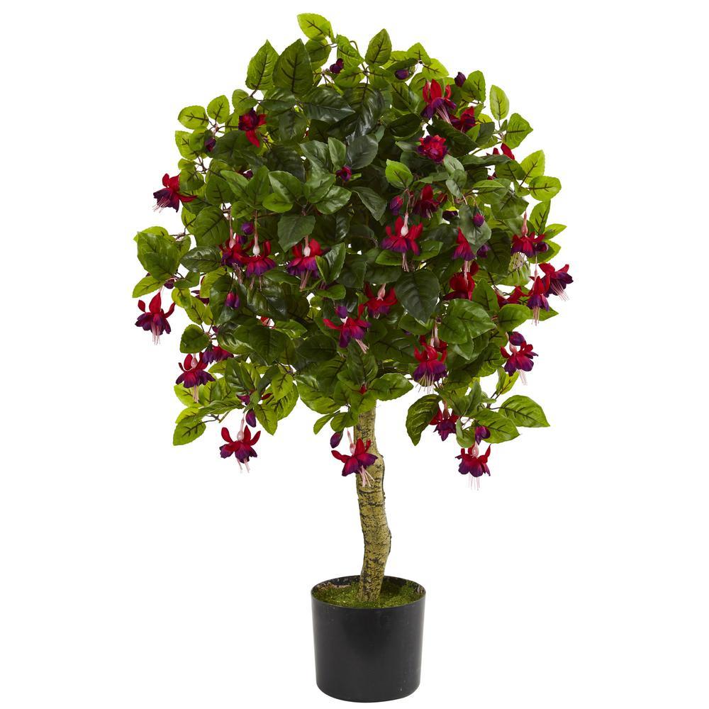 3 in. Fuchsia Artificial Tree