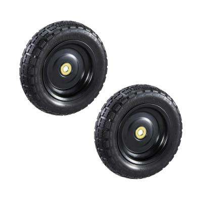 10 in. No Flat Replacement Tire for Gorilla Carts (2-Pack)