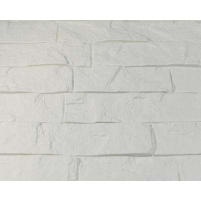 Ledge Stone Matte White 24 in. x 24 in. Wall Panel (6-Pieces)