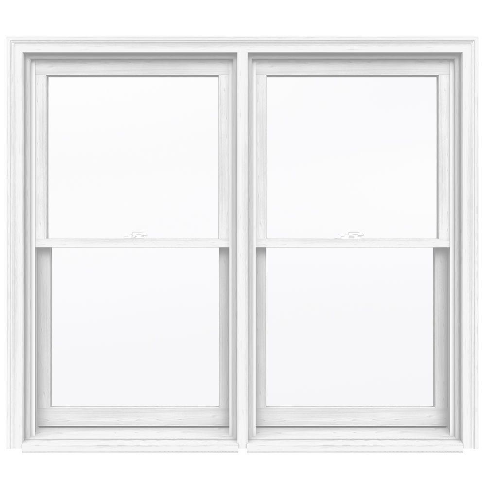 Jeld wen in x 56 5 in w 2500 series double hung for Double hung window reviews