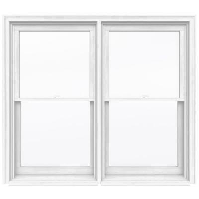 66.75 in. x 56.5 in. W-2500 Series Primed Wood Double Hung Window w/ Natural Interior and Low-E Glass