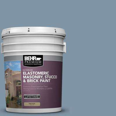 5 gal. #560F-5 Bleached Denim Elastomeric Masonry, Stucco and Brick Paint
