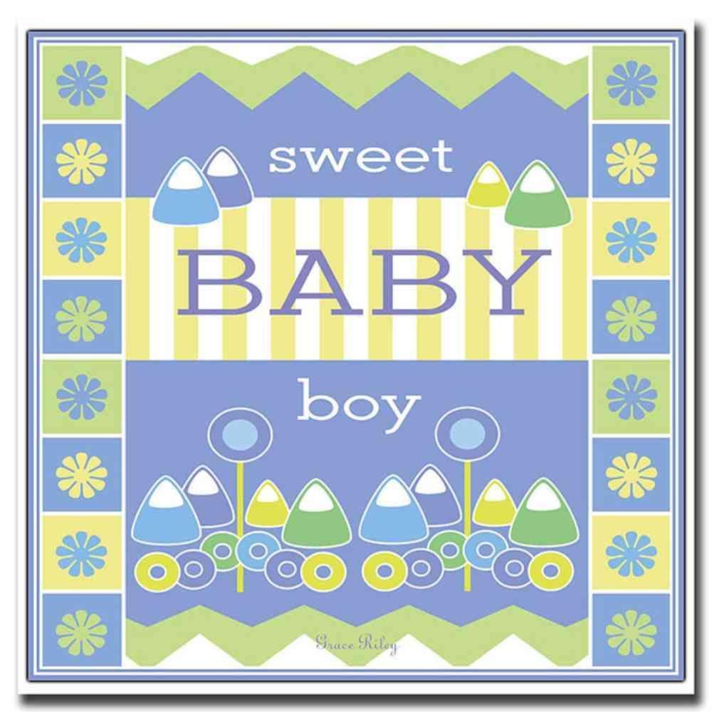 Trademark Fine Art 18 in. x 18 in. Sweet Baby Boy Canvas Art