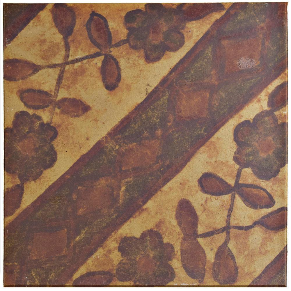 Klinker Retro Rojo Aubrieta 12-3/4 in. x 12-3/4 in. Ceramic Floor and Wall Quarry Tile