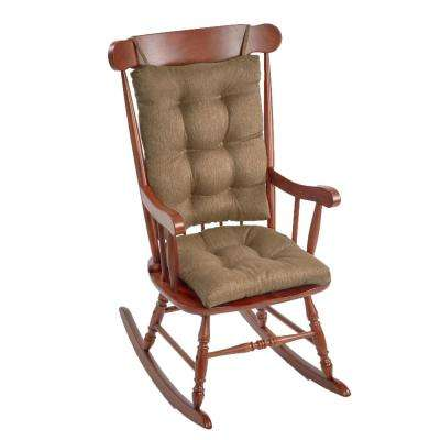 Gripper Omega Gold Jumbo Rocking Chair Cushion Set