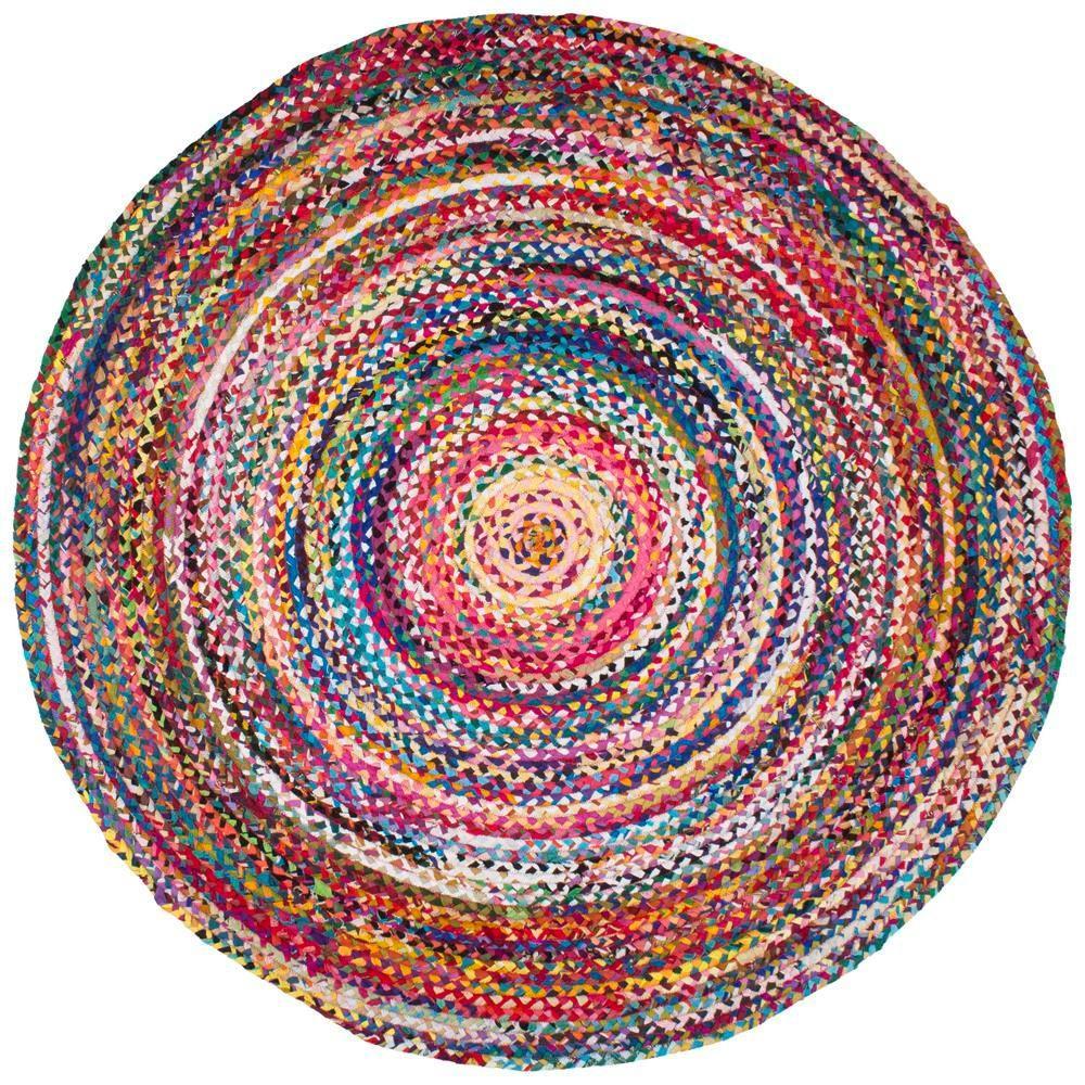Round Chindi Area Rug