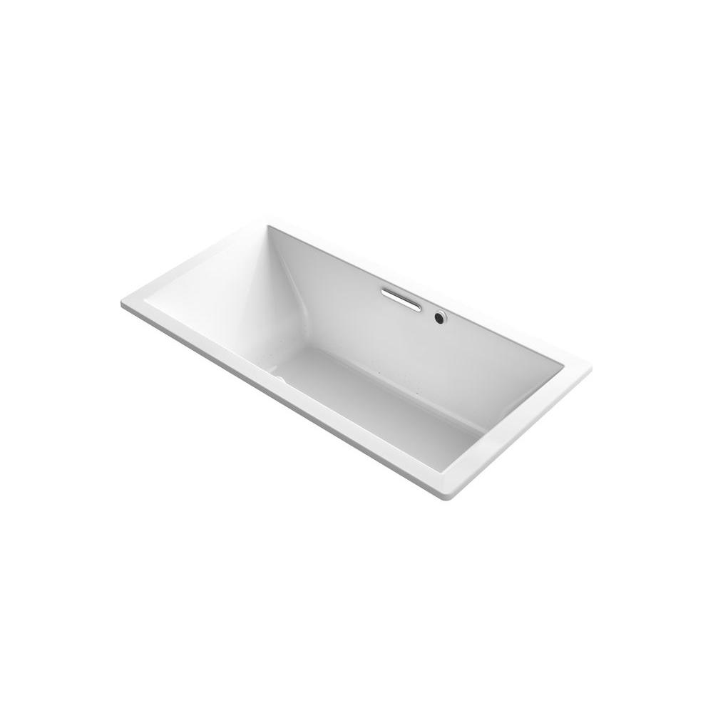 KOHLER Underscore 6 ft. Air Bath Tub in White-K-1835-GW-0 - The ...