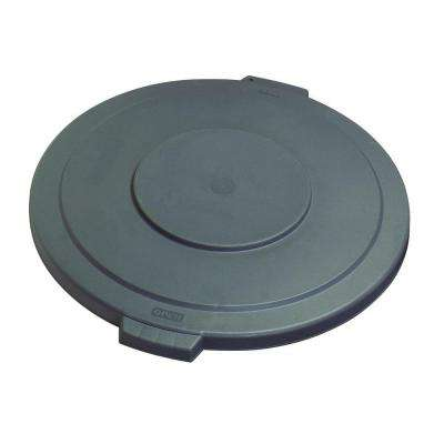 Bronco 20 Gal. Gray Round Trash Can Lid (6-Pack)