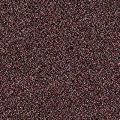 Carpet Sample - Difference Maker - Color Red Violet Loop 8 in. x 8 in.