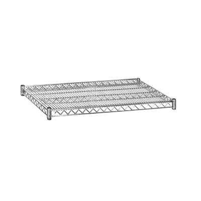 2 in. H x 36 in. W x 24 in. D Shelf Wire Chrome Finish Commercial Shelving Unit