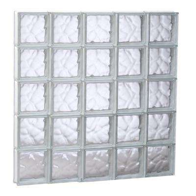 38.75 in. x 38.75 in. x 3.125 in. Frameless Wave Pattern Non-Vented Glass Block Window