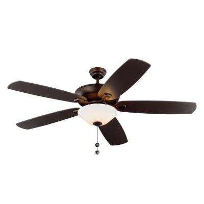 Colony Super Max Plus 60 in. Indoor Brushed Steel Ceiling Fan