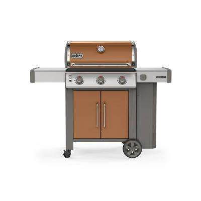 Genesis II E-315 3-Burner Propane Gas Grill in Copper with Built-In Thermometer