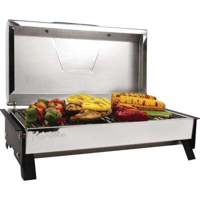 Portable Profile 150 Propane Gas Grill in Stainless Steel