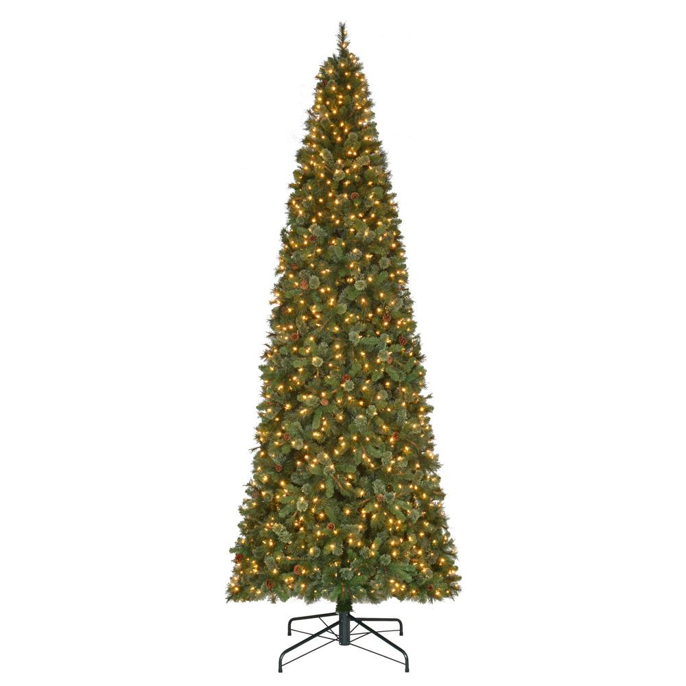 martha stewart living 15 ft pre lit led alexander fir artificial christmas tree with