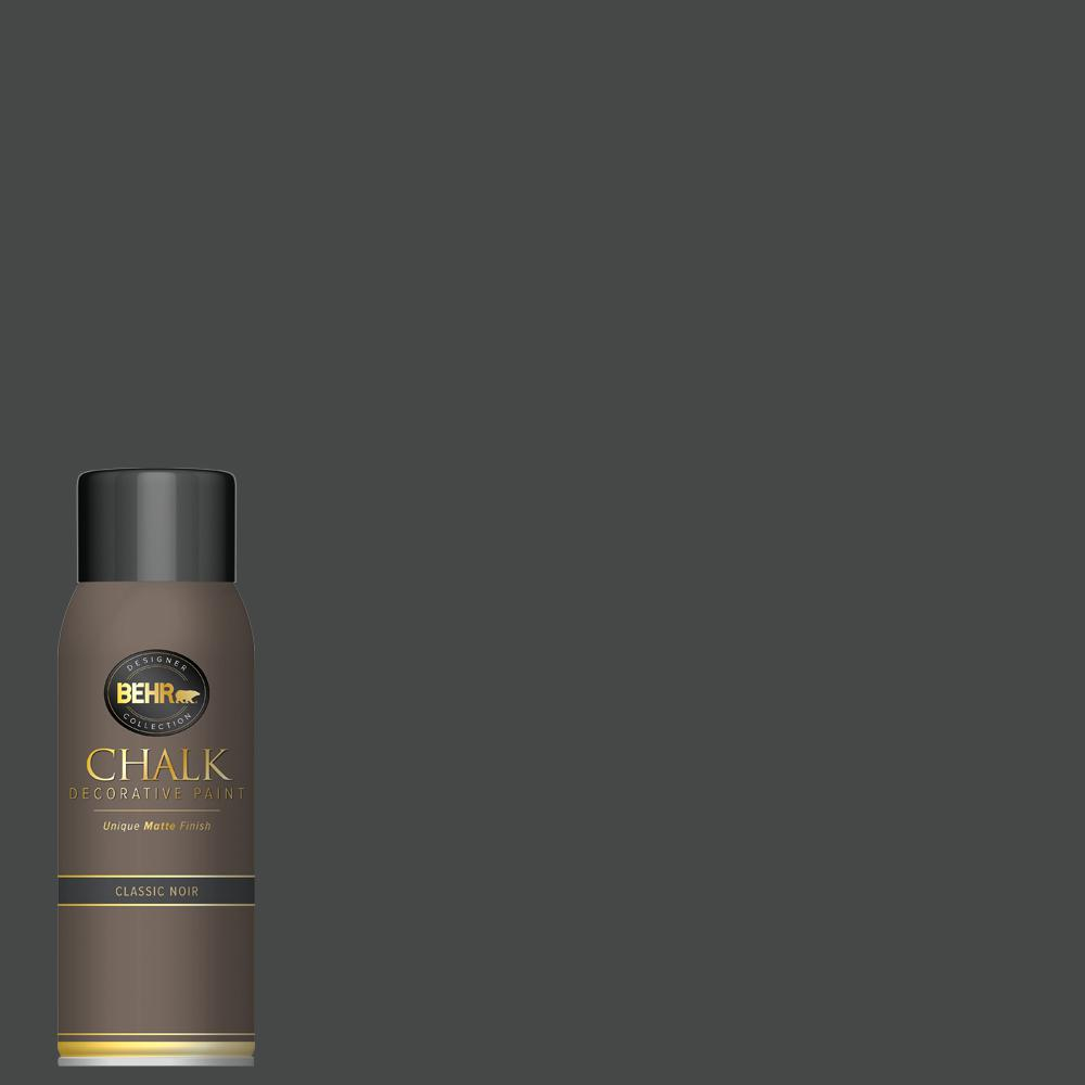 BEHR 12 oz. Classic Noir Interior Chalk Spray Paint Aerosol
