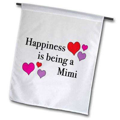 EvaDane 1 ft. x 1-1/2 ft. Happiness Is Being A Mimi Quotes Flag